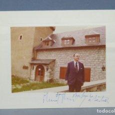 Fotografía antigua: FOTOGRAFIA DE MANUEL FRAGA IRIBARNE. CON DEDICATORIA AUTOGRAFA. Lote 144549590