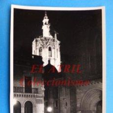 Fotografía antigua: VALENCIA - TORRE MIGUELETE, VISTA NOCTURNA - AÑOS 1940-50. Lote 144841358