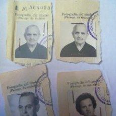 Fotografía antigua: LOTE DE 4 FOTOS DE CARNET CORTADAS DE PASAPORTES. CONSULADO DE CASABLANCA ( MARRUECOS ). Lote 145205026