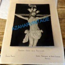 Fotografía antigua: SEMANA SANTA SEVILLA, ANTIGUA FOTOGRAFIA CRISTO DE LA EXALTACION, REVERSO SELLO HERMANDAD,17X23 CMS. Lote 145313962