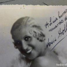Fotografía antigua: MISS DOLLY. CUPLETISTA O ARTISTA VARIEDADES. FOTO-POSTAL ORIGINAL FIRMADA. AÑOS 1930S. Lote 145613366