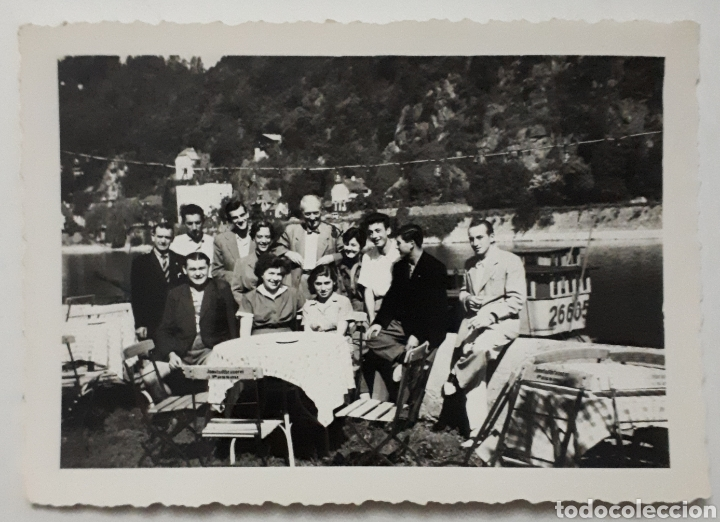 CÁNTABROS QUE PARTICIPARON EN EUROPÄISCHE WOCHEN. PASSAU ALEMANIA. EN EL HOTEL SOBRE EL DANUBIO.1953 (Fotografía Antigua - Fotomecánica)