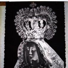 Fotografía antigua: LEBRIJA SEVILLA ANTIGUO CLICHÉ DE NUESTRA SEÑORA DE LOS DOLORES NEGATIVO EN CRISTAL. Lote 146919050