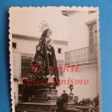 Fotografía antigua: VALENCIA - VISTA PROCESION VIRGEN DE LOS DOLORES - FOTOGRAFICA - AÑOS 1930-40. Lote 147307450