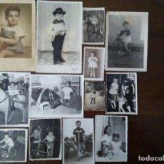 Fotografía antigua: 13 ANTIGUAS FOTOGRAFÍAS DE NIÑOS CON SUS JUGUETES. CABALLOS DE CARTÓN, MUÑECAS, ETC...VER FOTOS.. Lote 147498486