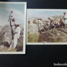 Fotografía antigua: SIERRA DE GUADARRAMA MADRID 2 FOTOGRAFIAS HOMBRES VESTIDOS RODAJE PELICULA DEL OSTE. Lote 147778502