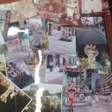 Fotografía antigua: INTERESANTE LOTE 19 FOTOS DE TODAS LAS EPOCAS FALLAS HOGUERAS. Lote 147858006