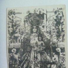 Fotografía antigua: FOTO DE ALTAR CON IMAGEN DE VIRGEN CON EL NIÑO. Lote 148228646