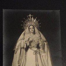 Fotografía antigua: ANTIGUA FOTOGRAFIA DE VIRGEN DOLORES Y MISERICORDIA.FOTO FERNAND.SEVILLA AÑOS 60. Lote 148238654