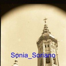 Fotografía antigua: CALATAYUD, ZARAGOZA - REAL COLEGIATA DE SANTA MARÍA LA MAYOR - NEGATIVO EN CELULOIDE 35 MM. AÑOS 60. Lote 148310030