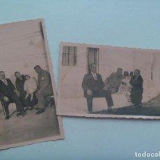 Fotografía antigua: LOTE DE 2 FOTOS DE FAMILIA EN CORTIJO, PRINCIPIOS DE SIGLO. RARO TONO ROSA. Lote 148363398