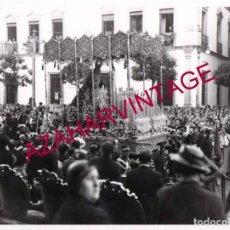 Fotografía antigua: SEMANA SANTA SEVILLA, AÑOS 30, LA VIRGEN DEL REFUGIO, SAN BERNARDO, 24X18 CMS, LEER DESCRIPCION. Lote 148917350