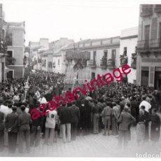 Fotografía antigua: SEMANA SANTA SEVILLA, AÑOS 30, LA VIRGEN DEL REFUGIO, SAN BERNARDO, 24X18 CMS, LEER DESCRIPCION. Lote 148951574