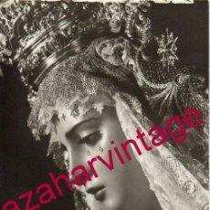 Fotografía antigua: SEMANA SANTA SEVILLA, ANTIGUA FOTOGRAFIA VIRGEN DE GRACIA Y ESPERANZA, FOT.HARETON,90X140MM. Lote 149570434