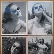 Fotografía antigua: RAMÓN BATLLES FOTÓGRAFO LOTE 4 FOTOGRAFÍA PUBLICIDAD GAFAS DE SOL MODELO LUCÍA BOSÉ ?. Lote 149857882