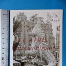 Fotografía antigua: VALENCIA - FALLAS, PLAZA DEL CAUDILLO - FOTOGRAFICA - AÑO 1965. Lote 149947742
