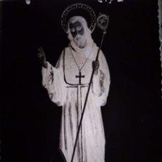 Fotografía antigua: ANTIGUO CLICHÉ DE SAN PAULINO PATRÓN DE BARBATE CÁDIZ NEGATIVO EN CRISTAL. Lote 150758550