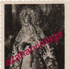 Fotografía antigua: SEMANA SANTA SEVILLA, ANTIGUA FOTOGRAFIA ESPERANZA MACARENA, 60X88MM. Lote 151006154