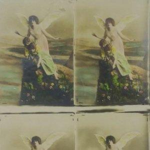 Antiguo montaje 4 fotos en 1 Medida 13.5 x 9 cm