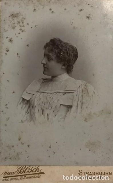 1898 MUJER. VAN BOSCH 10,8X16,7 CM (Fotografía Antigua - Fotomecánica)