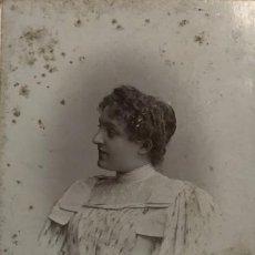 Fotografía antigua: 1898 MUJER. VAN BOSCH 10,8X16,7 CM. Lote 149283982