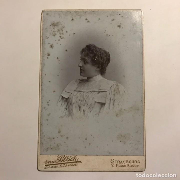 Fotografía antigua: 1898 Mujer. Van Bosch 10,8x16,7 cm - Foto 2 - 149283982