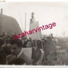 Fotografía antigua: LA CAMPANA, SEVILLA, 1950, LLEGADA DE LA VIRGEN DE FATIMA, 75X60 MM. Lote 151437886