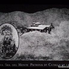 Fotografía antigua: ANTIGUO CLICHÉ NUESTRA SEÑORA DEL MONTE PATRONA DE CAZALLA DE LA SIERRA SEVILLA NEGATIVO EN CRISTAL. Lote 151497482