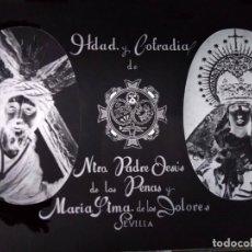 Fotografía antigua: SEVILLA ANTIGUO CLICHÉ NTRO PADRE JESÚS DE LAS PENAS Y MARÍA STMA DE LOS DOLORES NEGATIVO EN CRISTAL. Lote 151499354