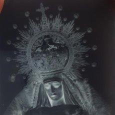 Fotografía antigua: ANTIGUO CLICHÉ DE NUESTRA SEÑORA DE LAS MISERICORDIAS DE ECIJA SEVILLA NEGATIVO EN CRISTAL. Lote 151551878