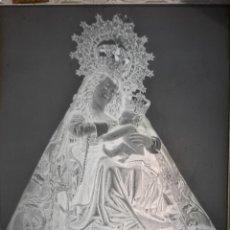 Fotografía antigua: ANTIGUO CLICHÉ DE NUESTRA SEÑORA DEL PUERTO PLASENCIA CACERES NEGATIVO EN CRISTAL. Lote 151552218