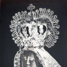 Fotografía antigua: ANTIGUO CLICHÉ DE NUESTRA SEÑORA DE LOS DOLORES LEBRIJA SEVILLA NEGATIVO EN CRISTAL. Lote 151665462