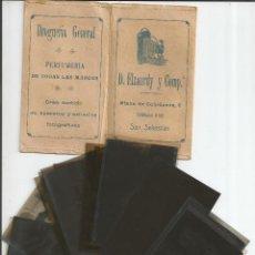 Fotografía antigua: CARPETA CON 12 NEGATIVOS *D. ELZAURDY Y COMP.ª - SAN SEBATIAN*. Lote 151887318