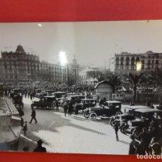 Fotografía antigua: PLAZA CATALUÑA. BARCELONA. HACIA 1910. FOTO TAMAÑO POSTAL ARCHIVO BRANGULÍ. Lote 152009414