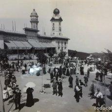 Fotografía antigua: ECLIPSE DE SOL EN EL TIBIDABO. FOTO 24 X 18 CTMS. COPIA AÑOS 60S. ARCHIVO MAS. BARCELONA. Lote 152010558