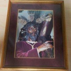 Fotografía antigua: PRECIOSO CUADRO CON FOTOGRAFÍA NTRO. PADRE JESUS DE LA SALUD, LOS GITANOS SEMANA SANTA DE SEVILLA. Lote 152383106