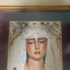 Fotografía antigua: PRECIOSO CUADRO CON FOTOGRAFÍAVIRGEN DE LAS ANGUSTIAS , LOS GITANOS SEMANA SANTA DE SEVILLA. Lote 152383198