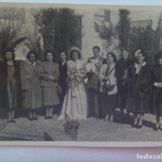 Fotografía antigua: FOTO DE BODA DE UN MAESTRANTE DE CABALLERIA, CONDECORADO, ETC. DE BARRERA , MERIDA. Lote 152490434
