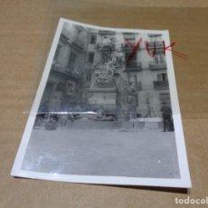 Fotografía antigua: FOTOGRAFIA ORIGINAL DE LA FALLA PLAZA DE SANTA CREU ( SANTA CRUZ ) AÑOS 60 - FALLAS VALENCIA. Lote 152493806