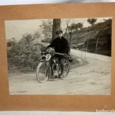 Fotografía antigua: FOTOGRAFIA MOTO DE CARRERAS-MALLORCA-1928.. Lote 153269878