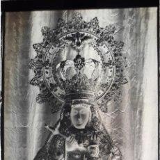 Fotografía antigua: ANTIGUO CLICHÉ DE NUESTRA SEÑORA DE GUADALUPE CACERES NEGATIVO EN CRISTAL. Lote 153504854