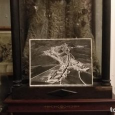 Fotografía antigua: GRAN FOTOGRAFIA 40 X 30 ORIGINAL ANTIGUA AEREA OLVERA CADIZ CON SELLO PAISAJES ESPAÑOLES . Lote 153583066