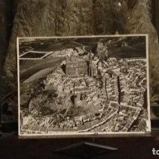 Fotografía antigua: GRAN FOTOGRAFIA 40 X 30 ORIGINAL ANTIGUA AEREA OLVERA CADIZ CON SELLO PAISAJES ESPAÑOLES . Lote 153583882
