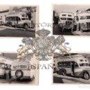 Fotografía antigua: MURCIA.- LOTE 4 FOTOGRAFIAS. AUTOBUSES DE LINEA EN MURCIA, ERA ALTA SAN GINES. 1957. 14 X 8,5 CM. Lote 153811702