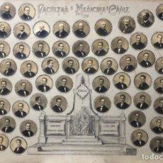 Fotografía antigua: ORLA FACULTAD MEDICINA DE CÁDIZ 1925. Lote 153920778