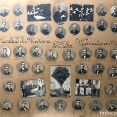 Fotografía antigua: ORLA FACULTAD DE MEDICINA DE CADIZ 1927. Lote 153922046