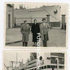 Fotografía antigua: LOTE 2 FOTOS ORIGINALES BARCO CABO DE HORNOS COMPAÑIA YBARRA AÑOS 50. Lote 154010334