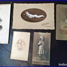 Fotografía antigua: 5 FOTOGRAFÍAS ANTIGUAS DE NIÑAS. SIGLO XIX?. Lote 154273674