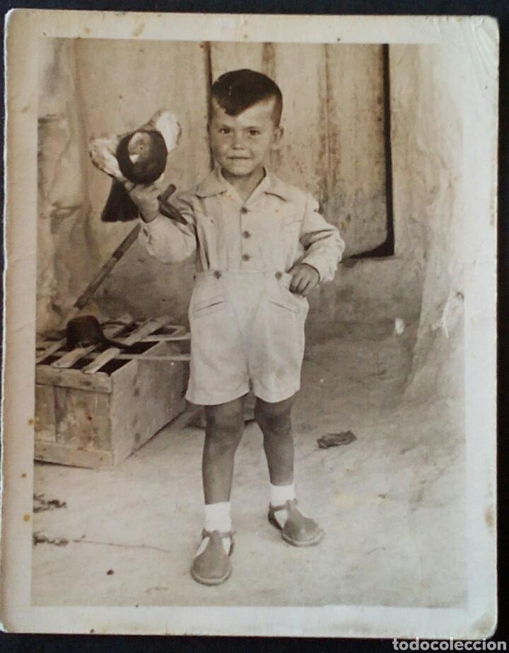 CTC - AÑO 1958 - NIÑO CON PALOMA (LOTE 2) -AÑOS 50 - FOTOGRAFIA ANTIGUA. (Fotografía Antigua - Fotomecánica)