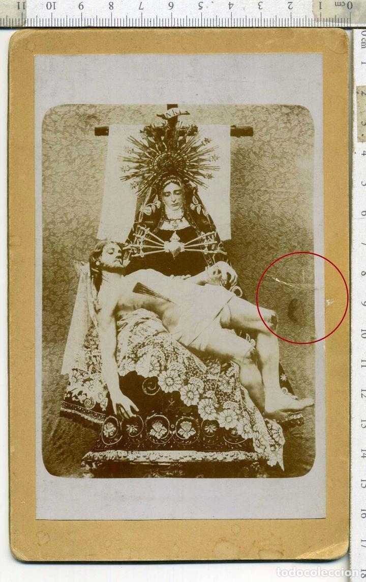 Fotografía antigua: ESPECTACULAR FOTOGRAFÍA VIRGEN DE LOS DOLORES Y CRISTO DESCENDIDO DE LA CRUZ - Foto 2 - 154761530